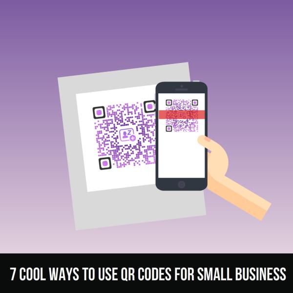 QR Cartoon Small Business